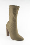 Runway - Khaki Knit Sock Booties