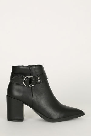 Last Call - Black Double Ring Booties