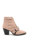 Power Play - NUDE Lace Up Booties similar to ZARA booties by Public Desire