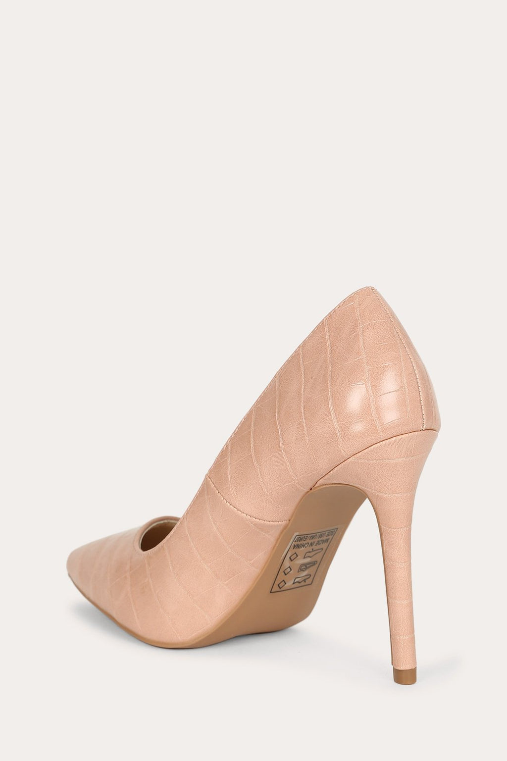 Jade - Nude Croco Pumps