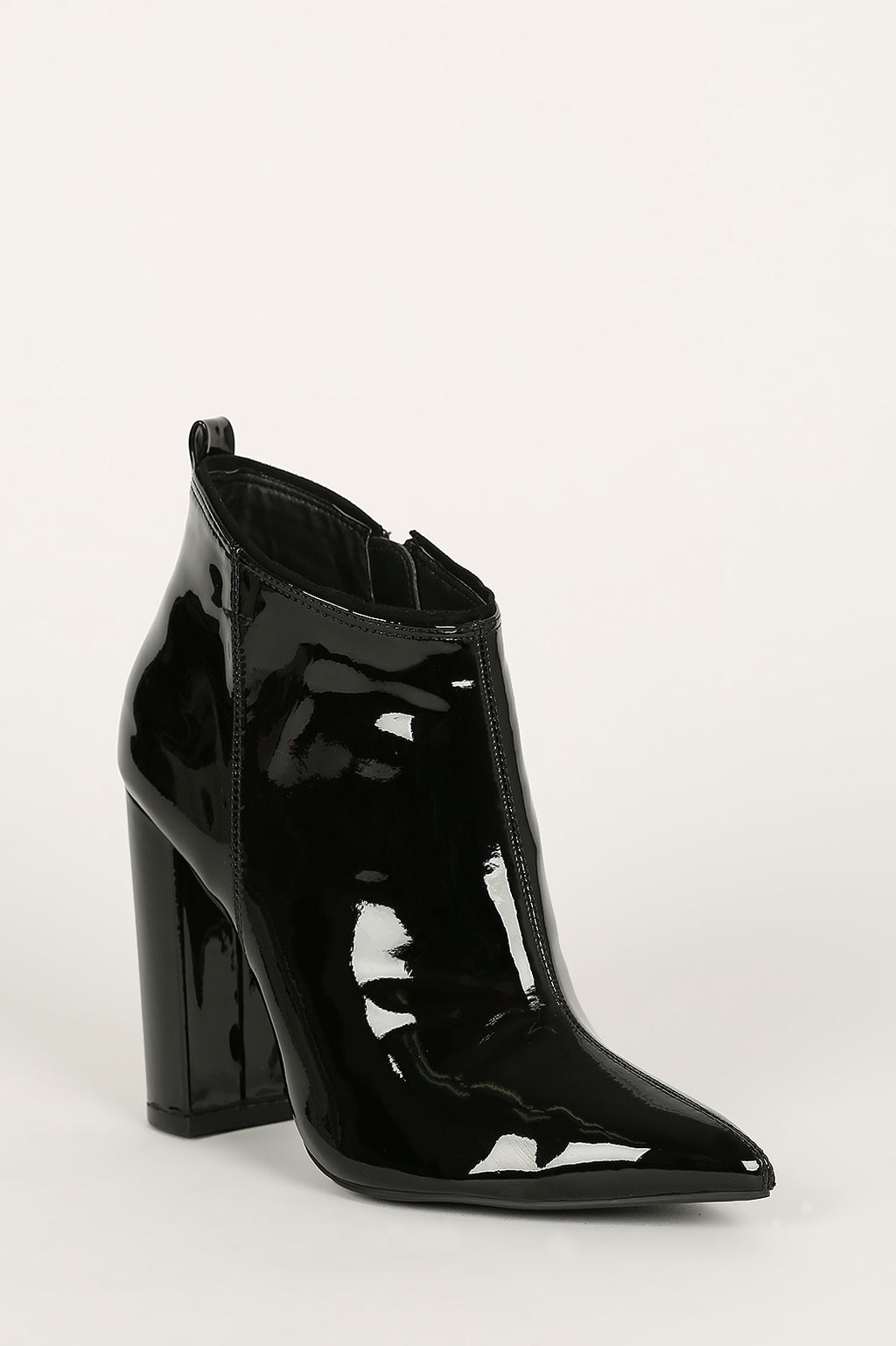 Midnight Muse - Black Pointed Toe Ankle Booties