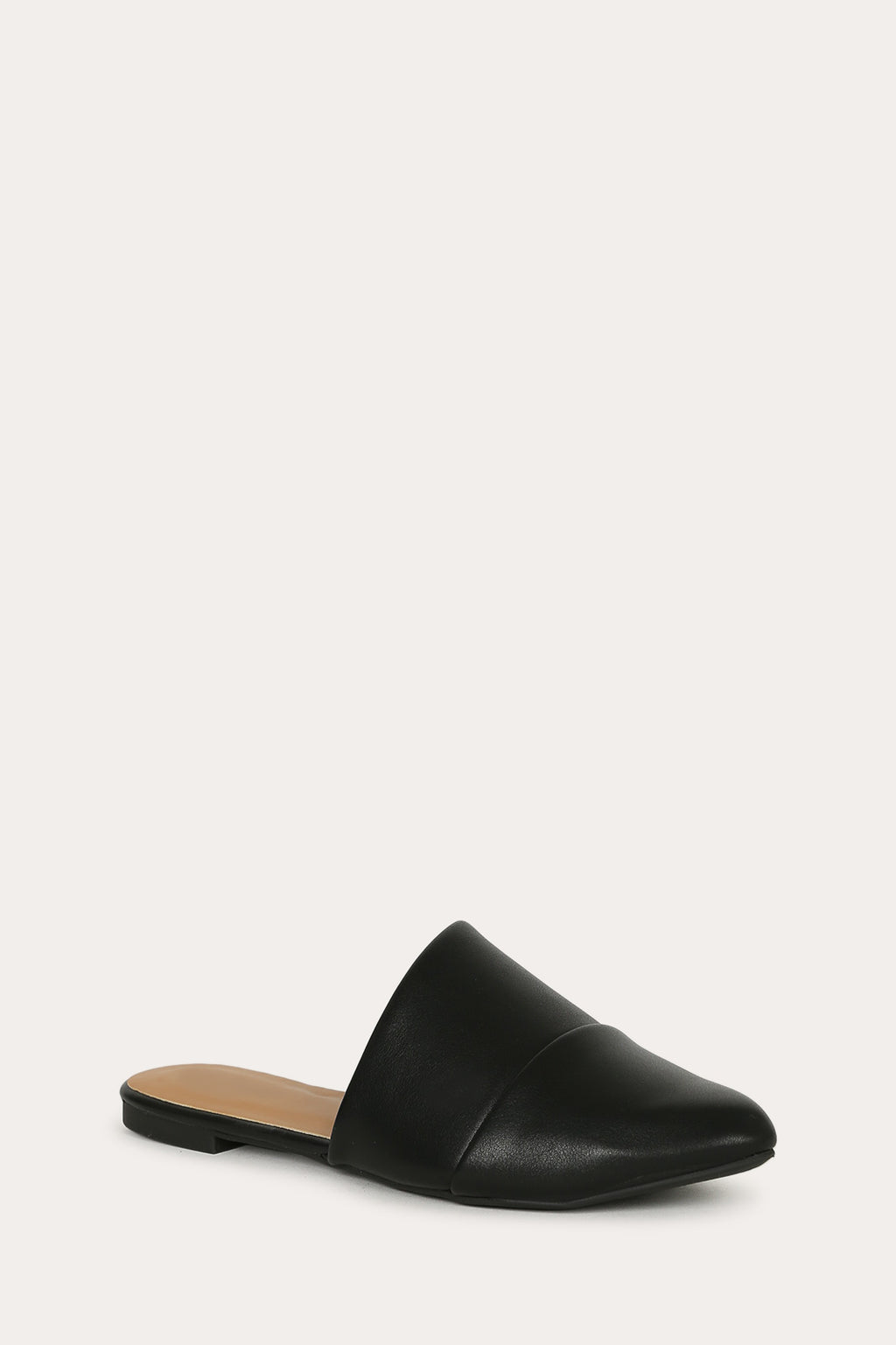 Casual Fling - Black Asymmetrical Cut Flats