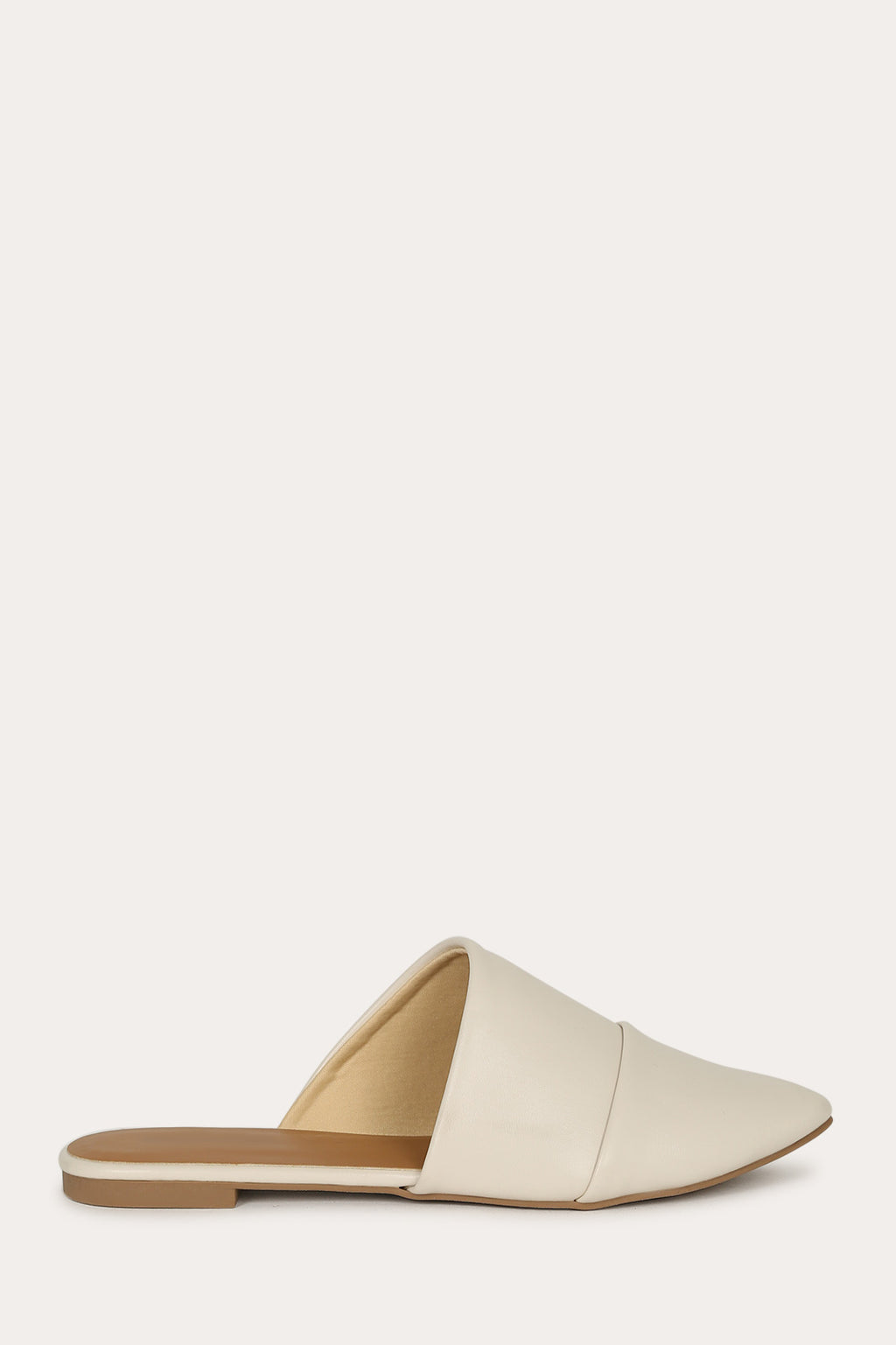 Casual Fling - Off White Asymmetrical Cut Flats
