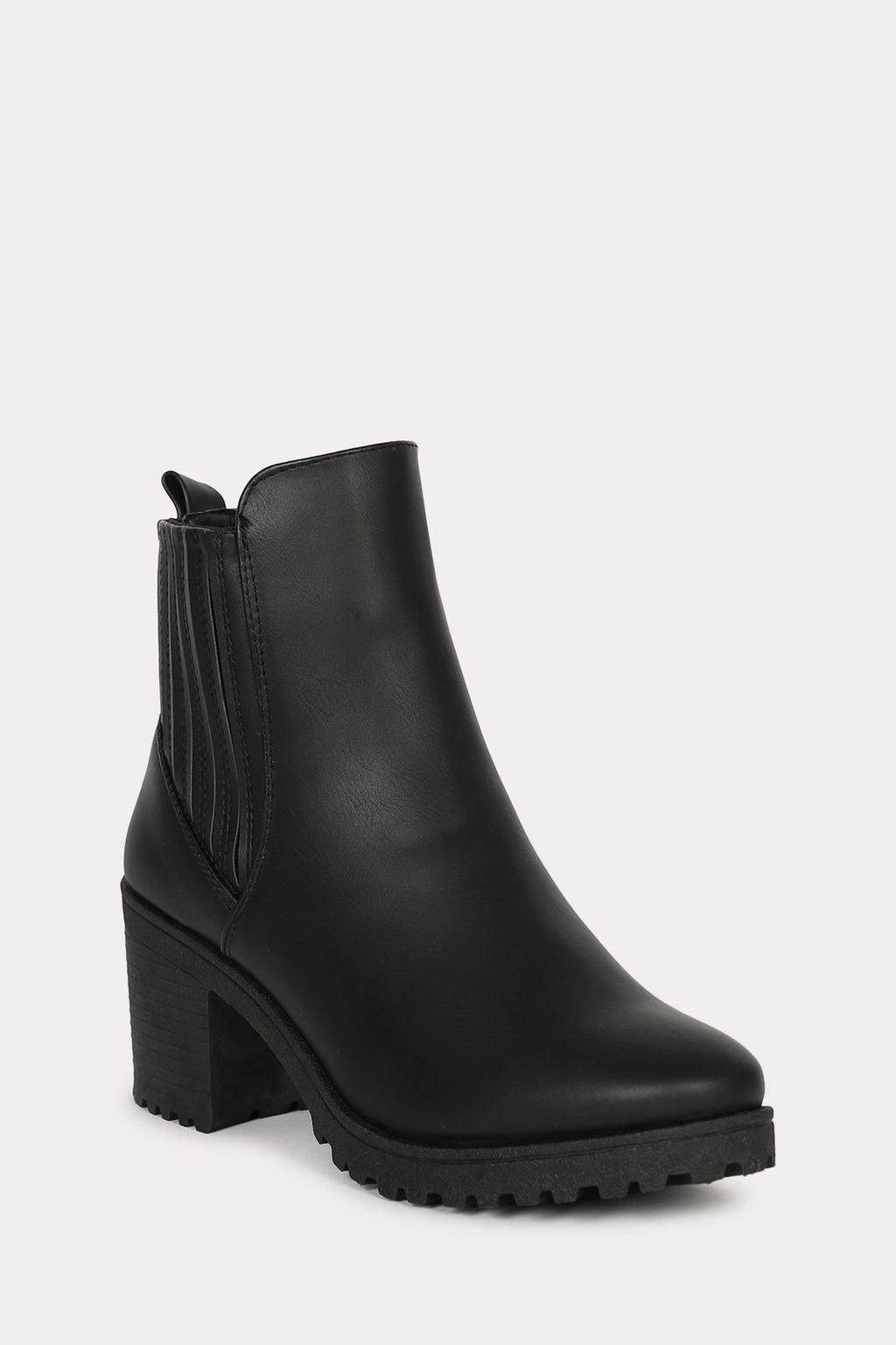 Bad Reputation - Black Lug Sole Chelsea Booties