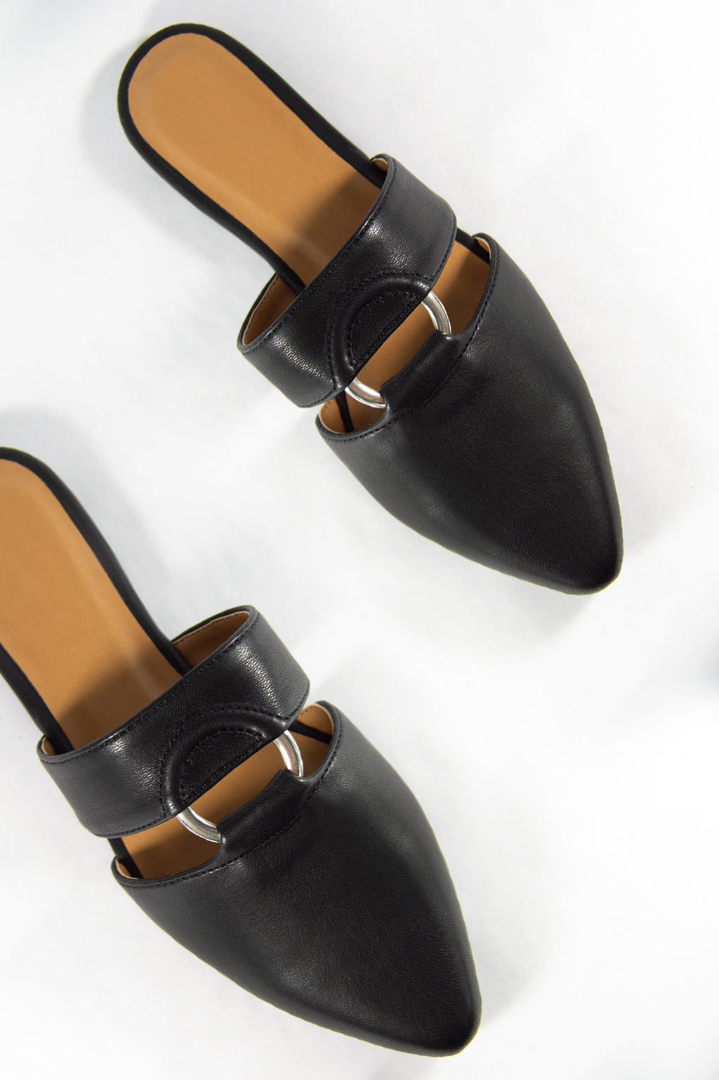 Totally You - Black O Ring Mule Slides
