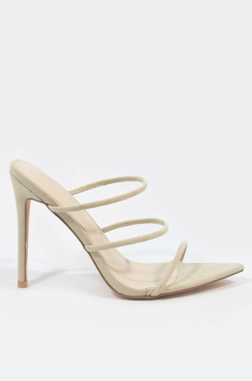 Unforgettable - Nude Lime Strappy Heels
