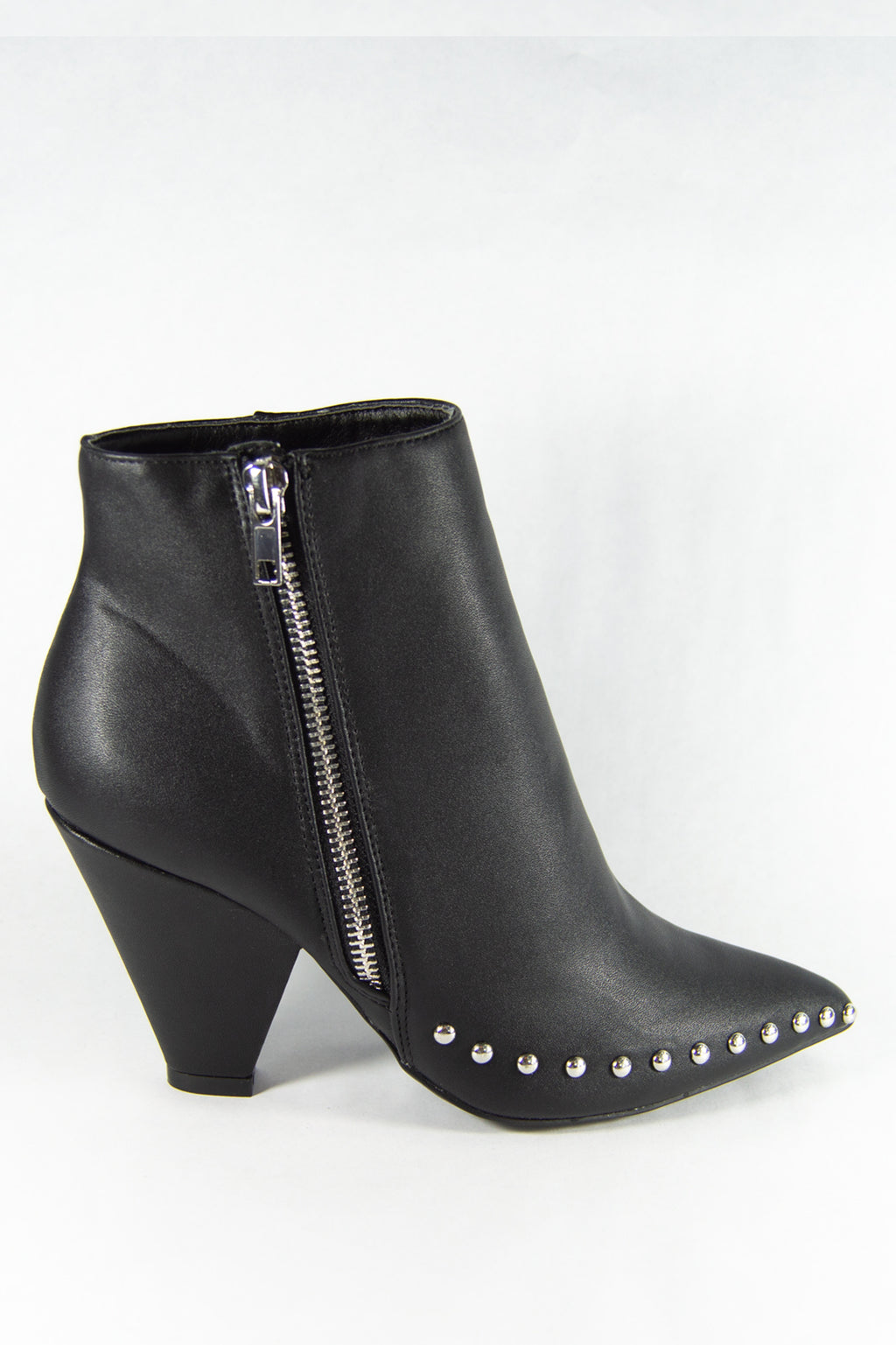 Vandal - Black Studded Ankle Booties