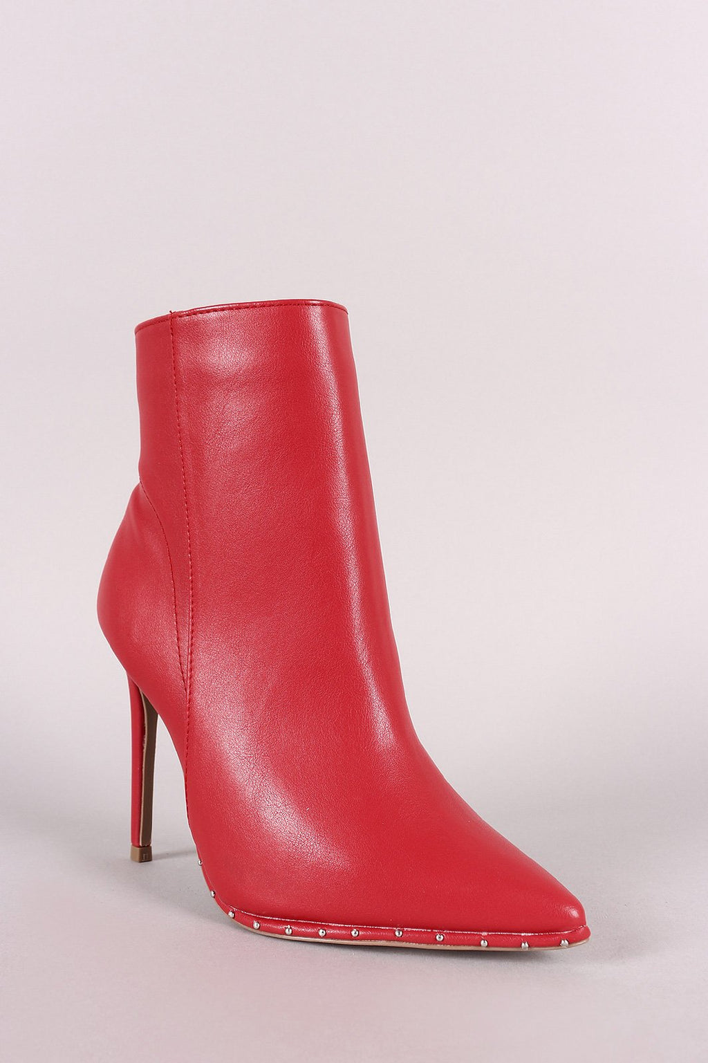 Bad Habits - Red Studded Ankle Booties