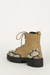 Walk My Way - Taupe Snake Lug Sole Boots