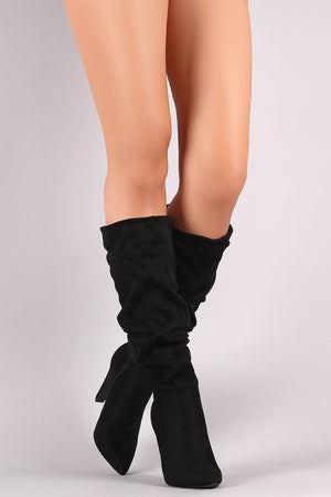Hold Me Down - Black Slouch Boots