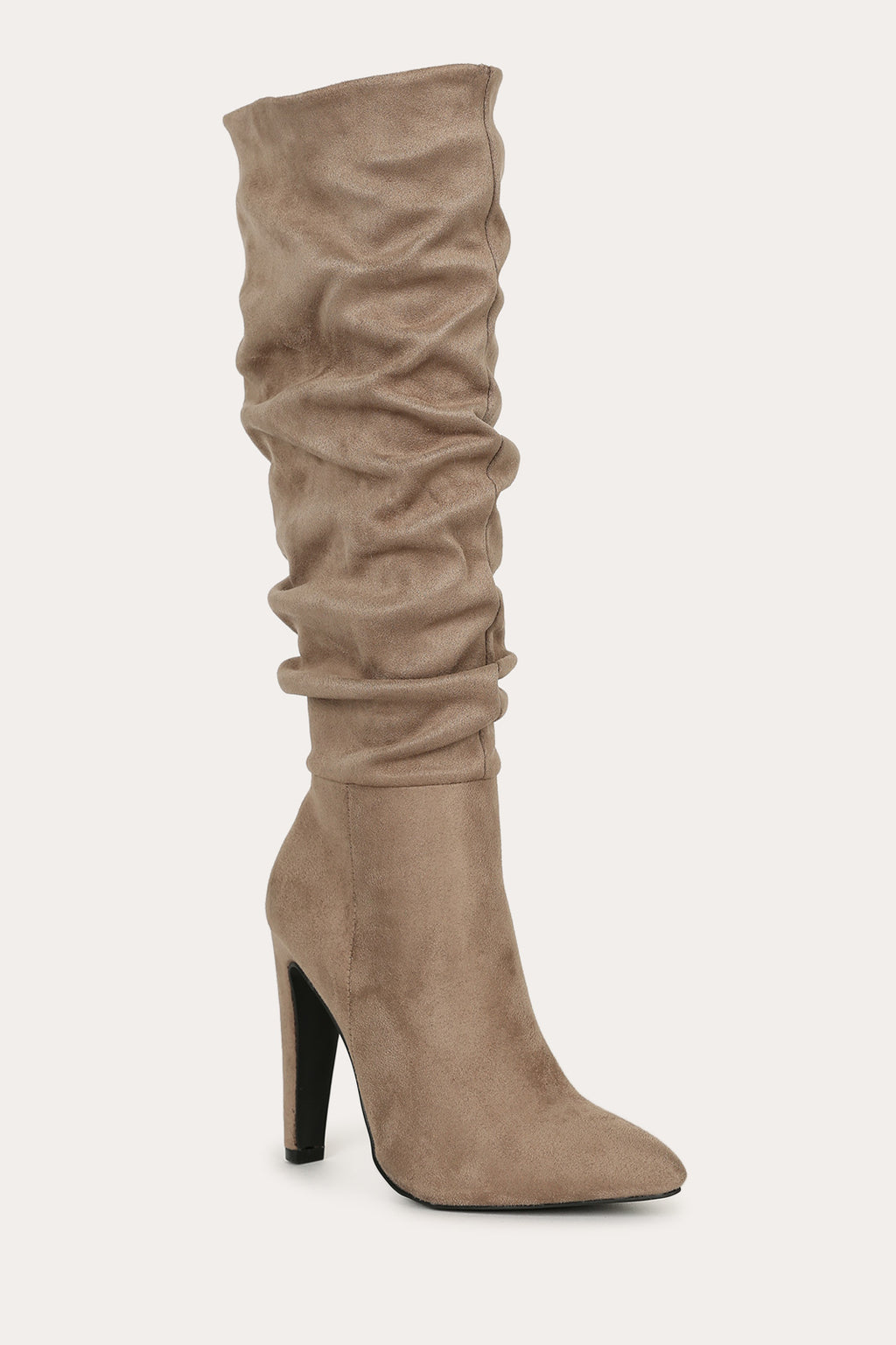 Hold Me Down - Taupe Slouch Boots