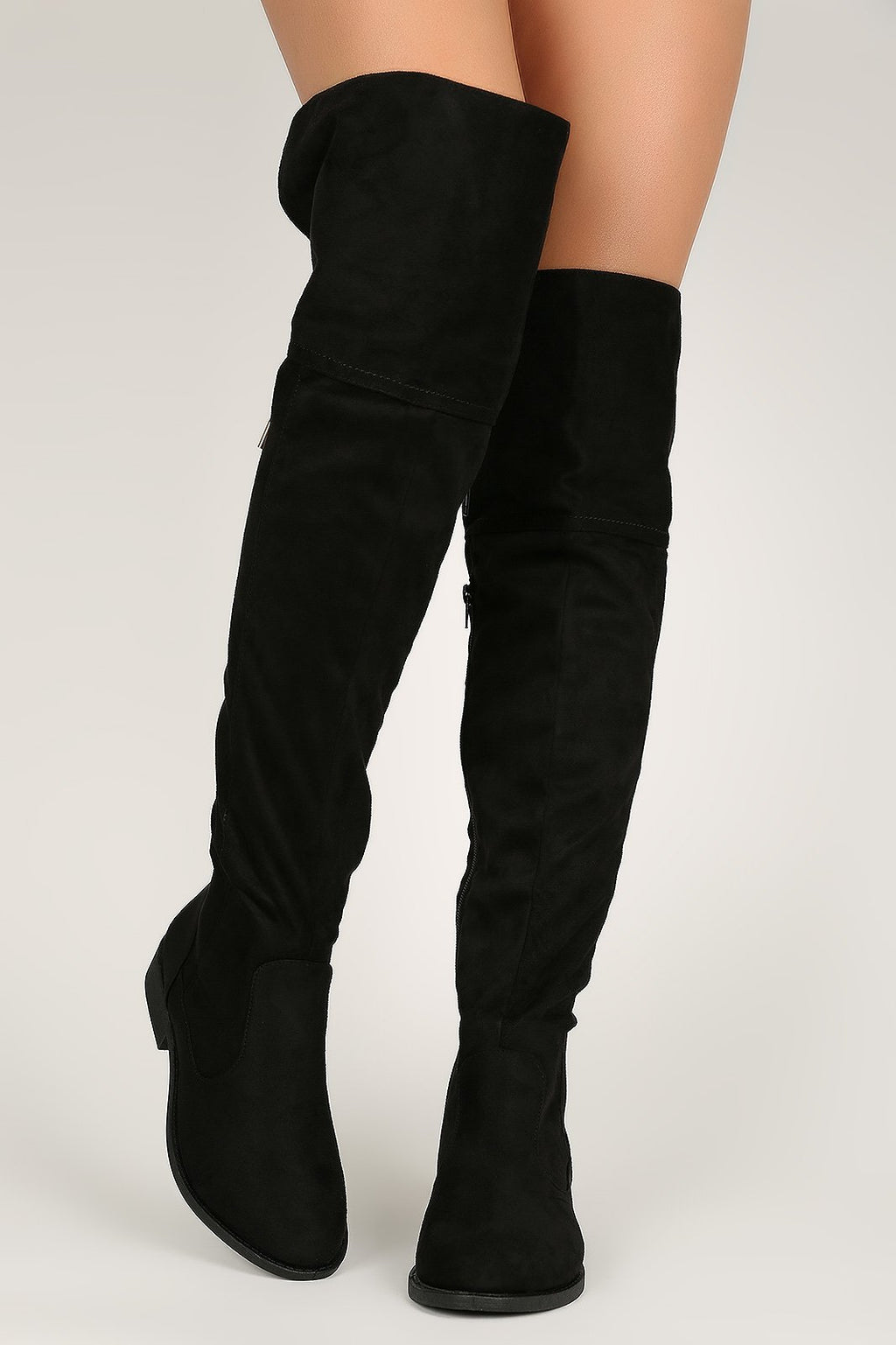 Trendsetter - Black Knee High Boots