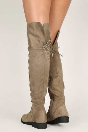 Trendsetter - Taupe Knee High Boots