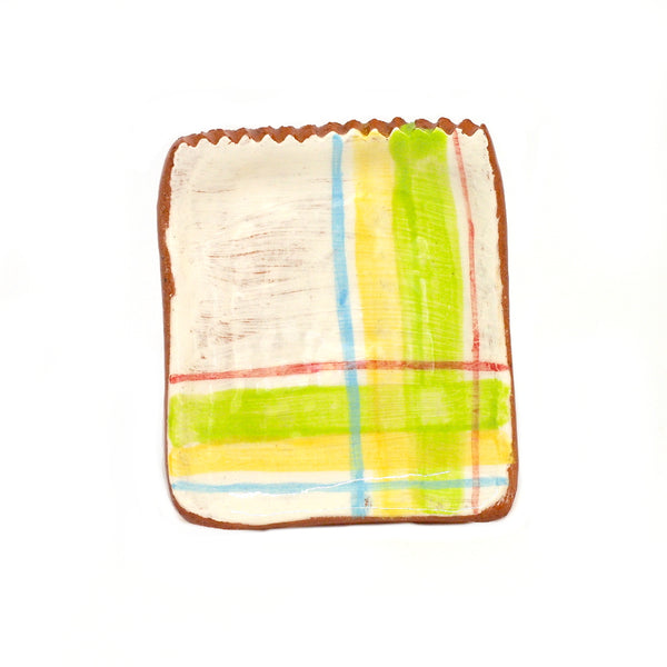Small Plate with Plaid Design #6