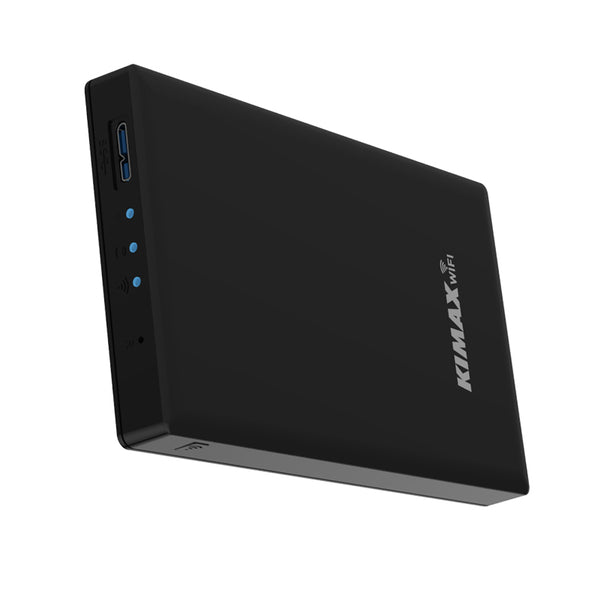axGear 2.5 Inch Wireless Hard Drive Enclosure USB 3.0 Laptop SATA HDD External WiFi NAS Network Storage Case