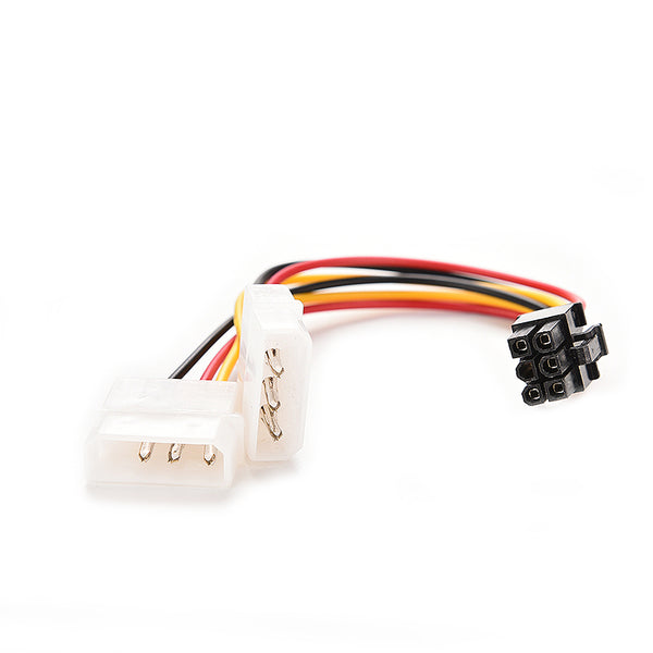 axGear Molex Dual 4 Pin to PCI-E 6 Pin Power Converter Cable IDE to PCI Express Power Wire