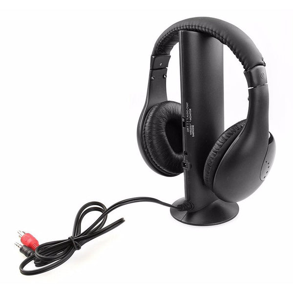 Wireless Headset Microphone Cordless FM Radio For MP3 MP4 Player TV Audio