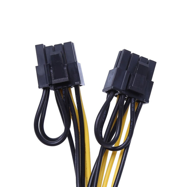 PCI-E 8-Pin To 2x 8 Pin / 6 Pin Dual Power Splitter Cable Extension Wire