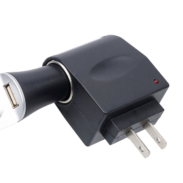 AC To DC Car Cigarette Lighter Socket 100-240V Power Adapter Converter
