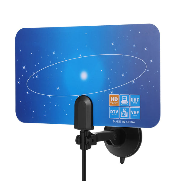 HD TV Antenna Indoor Digital HDTV Signal VHF UHF Receiver Free to Air TV Flat