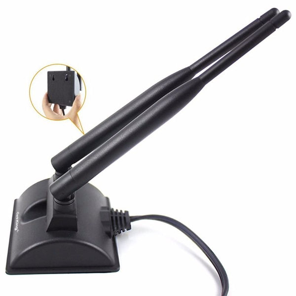 axGear Wireless 2.4G 5.8G Dual Band Antenna High Gain Dual WiFi Signal Omni Antenna 6 db