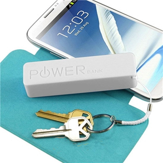 Key Chain 2600mAh External Power Bank Backup Battery USB Charger High Quality