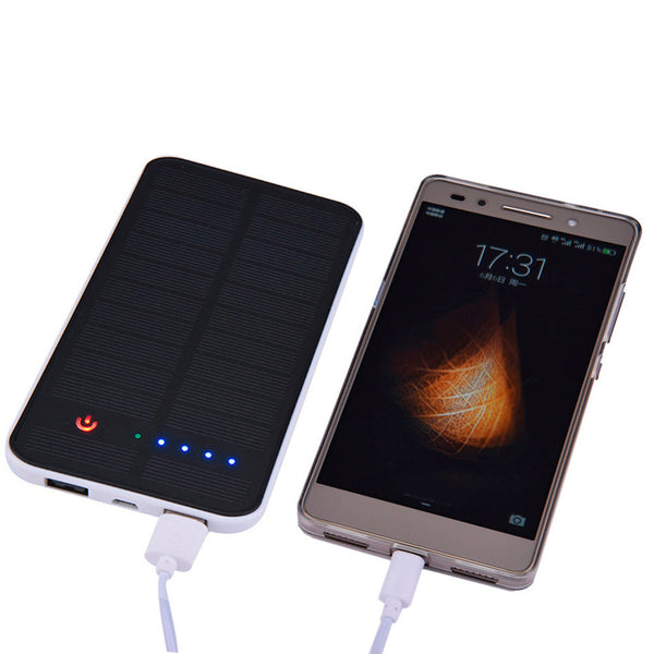 12000 mAh Dual USB Waterproof Solar Power Bank Battery Charger