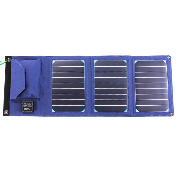 Foldable Solar USB Charger Panel Power Bank 15W 3A For Smart Phone Tablet