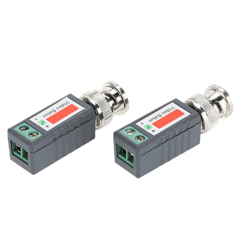 2x Coax CAT5 CCTV Camera Passive BNC Video Balun to UTP Connector Transceiver