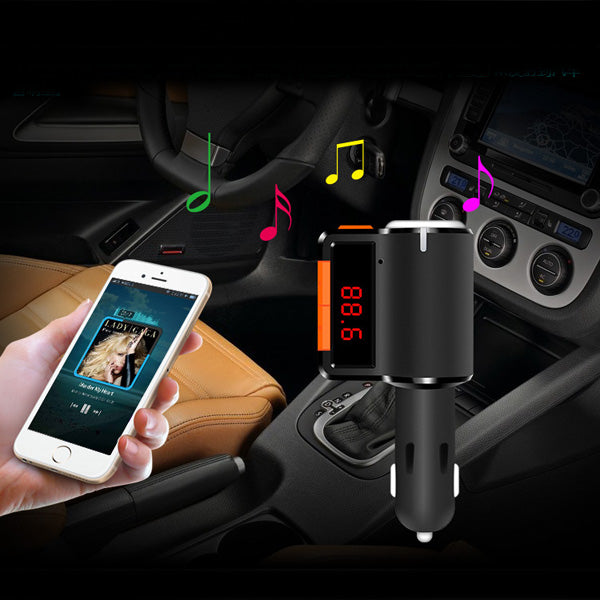 axGear Bluetooth FM Transmitter Handsfree Wireless Car Kit USB Charger MP3 Player