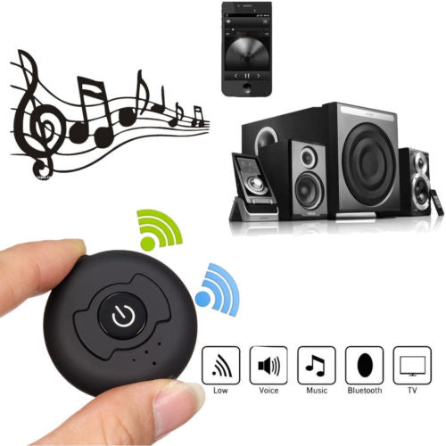 axGear Bluetooth V4.0 Wireless Music Transmitter Cordless Audio Sender 3.5mm AUX Audio Jack Built in Battery
