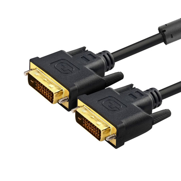 axGear DVI Cable DVI-D Dual Link Digital Video Cable for PC LCD TV Monitor Wire 15Ft 5M