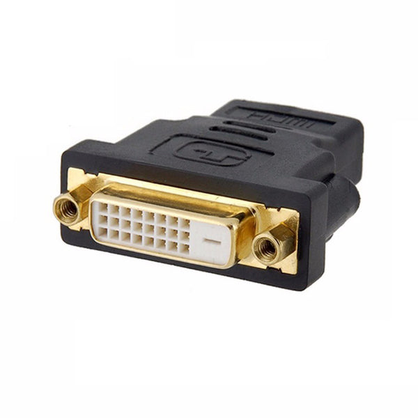 axGear HDMI Female to DVI Female Adapter HDMI to DVI-D Dula Link 24+1 F/F Converter