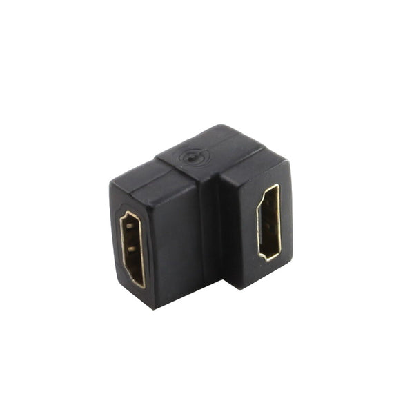 axGear HDMI Coupler F/F Female to Female Adapter Cable Extender 90 Degree Angle