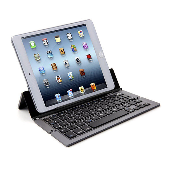 axGear Cordless Portable Keyboard Stand Bluetooth Wireless Foldable Keyboard for Tablet Phone