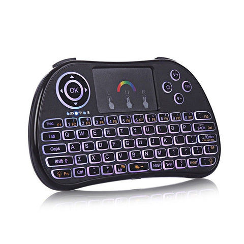 Wireless Touch Pad Keyboard USB 2.4G Multi Point w RGB Backlight Cordless Keypad