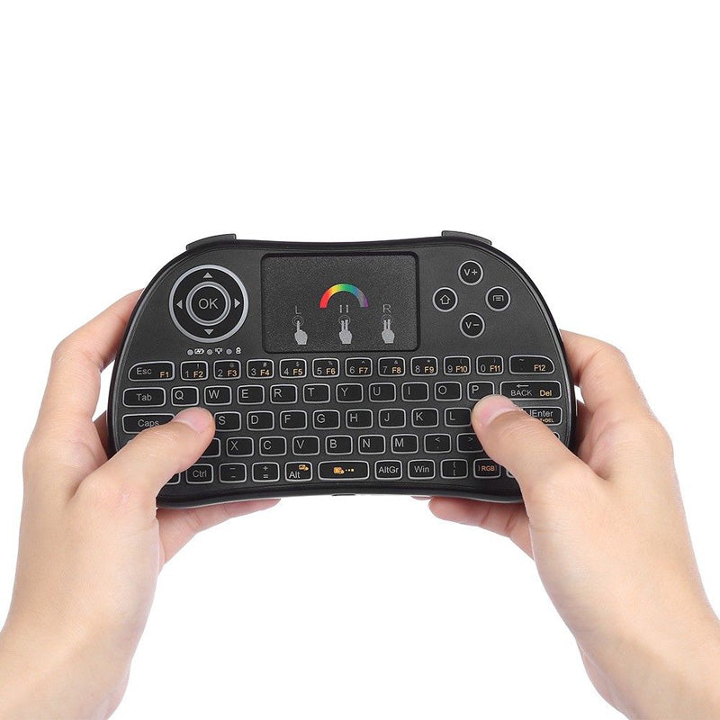 Wireless Touch Mini Keyboard 2.4G Multi Point with RGB Backlight Cordless Keypad