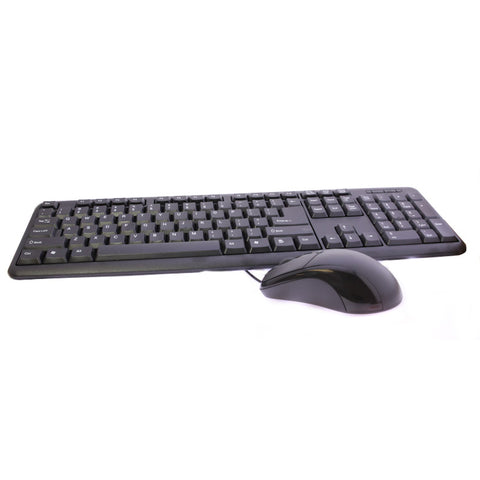 USB Wired Keyboard Full Sized Water Spill Resistant Black