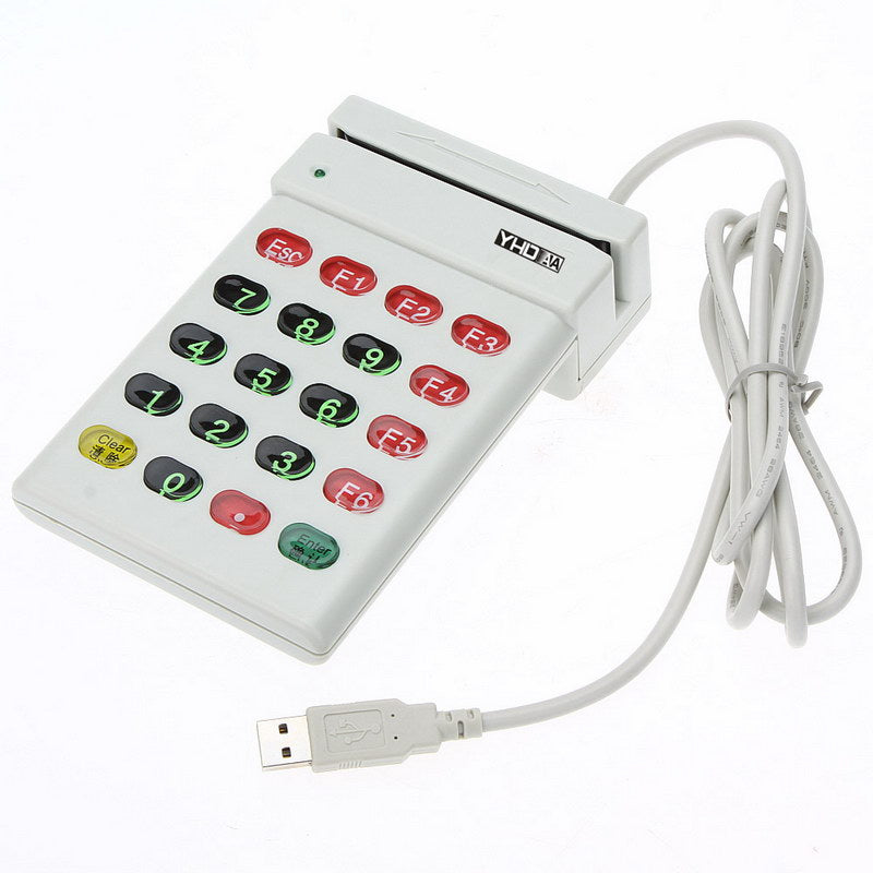 axGear USB Magnetic Stripe Card Reader Encoder Credit Card ID w/ Numeric Keypad