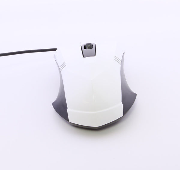 USB Optical Wired Scroll Wheel Mouse Mice For PC Laptop Computer White