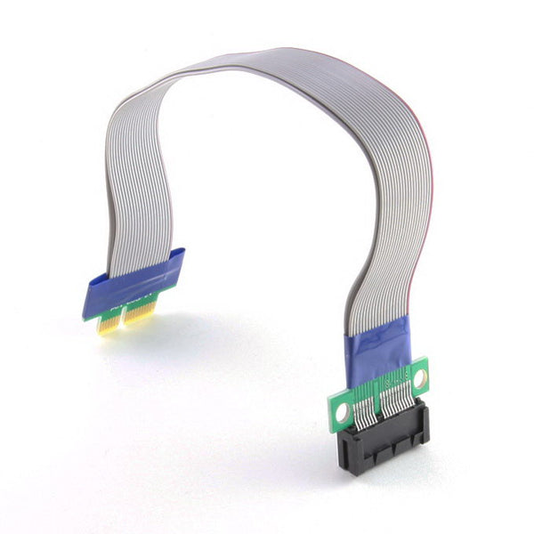 axGear PCI-Express PCI-E 1X Riser Card Ribbon Extender Extension Flex Relocate Cable