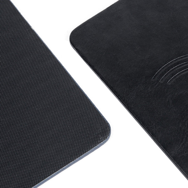 Mouse Pad w/ Qi Wireless Charger PU Leather Cordless Charging Station