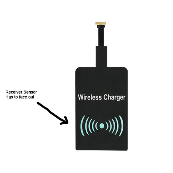 Qi Wireless Charger Receiver Pad Cordless Power for UP Micro USB Phone Samsung