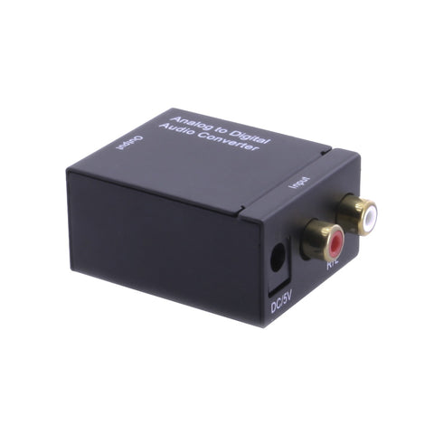 axGear Analog RCA to Optical Digital Coaxial Toslink Audio Converter Adapter Composite to Optical