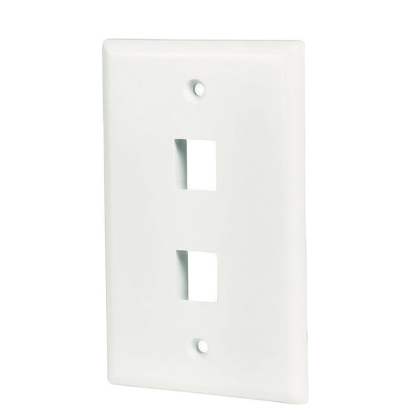 axGear RJ45 Wall Plate Cat5e Cat 6 Network Cable Socket Face Plate 2 Port