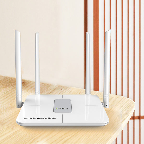 Dual Band 1200Mbps 11 AC Wireless Router Firewall Repeater 4 Antenna Long Range