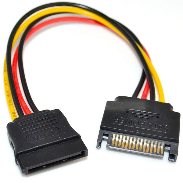 Brand New SATA Power 8 inch 8in 15 PIN Serial ATA Power Extension Internal Cable