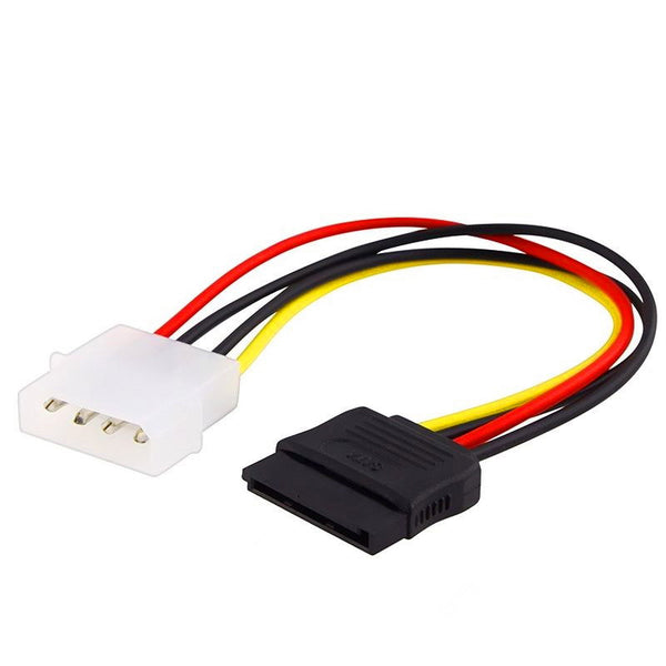 New 4-inch 4pin 4-pin IDE Male to 15-pin SATA Male HDD Power Cable Cord M-M