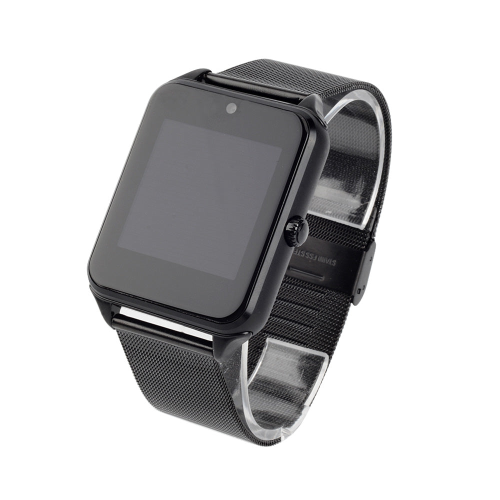 Bluetooth Smart Watch Unlocked GSM Phone Stainless Steel Band For Android iPhone