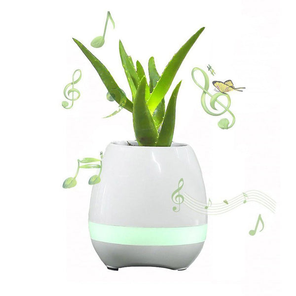 Flowerpot Night Lamp Bluetooth Speaker Smart Piano Touch Music Singing Plant Pot
